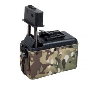CARGADOR DRUM M249 MINI A&K 1500 RDS multicam